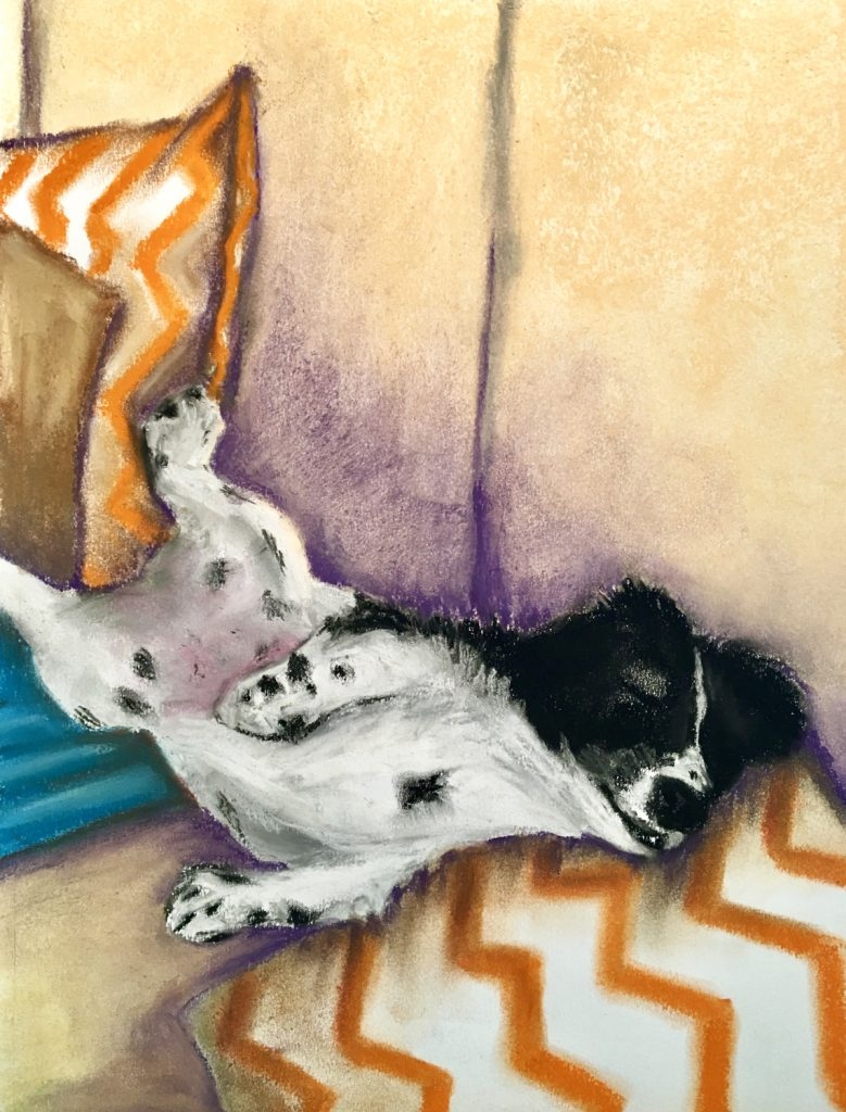 Alice In Recline 2, Pastel Drawing, Mary Tidy-Coyle